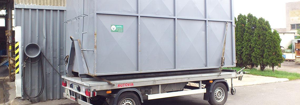 Přistavení kontejneru